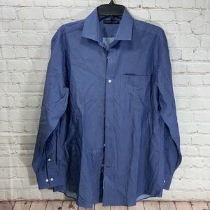 NWT Tommy Hilfiger Navy Herringbone Dress Shirt